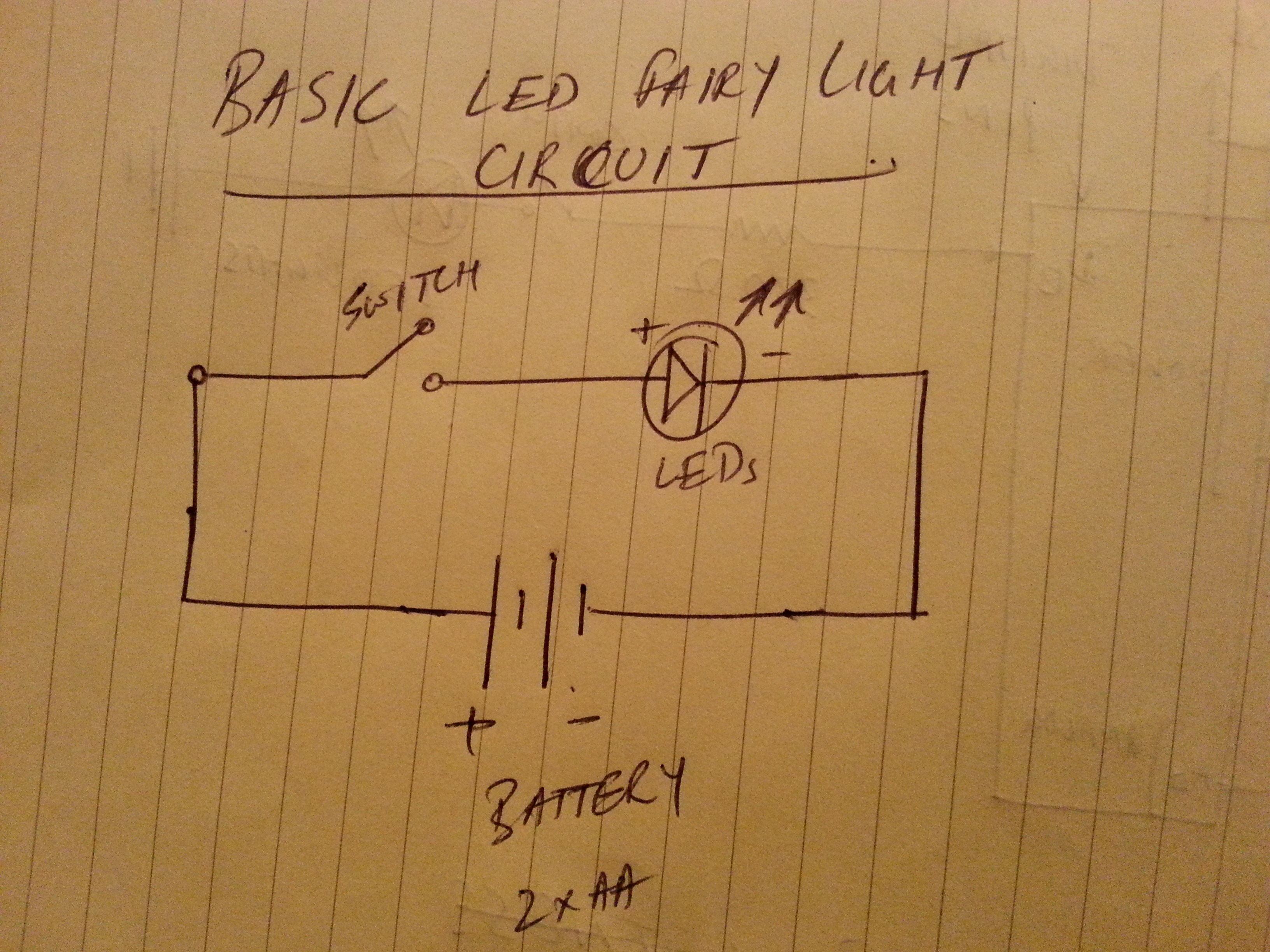Hacking Xmas Fairy Lights With Arduino Artineering Led In A Parallel Circuit Basic Light