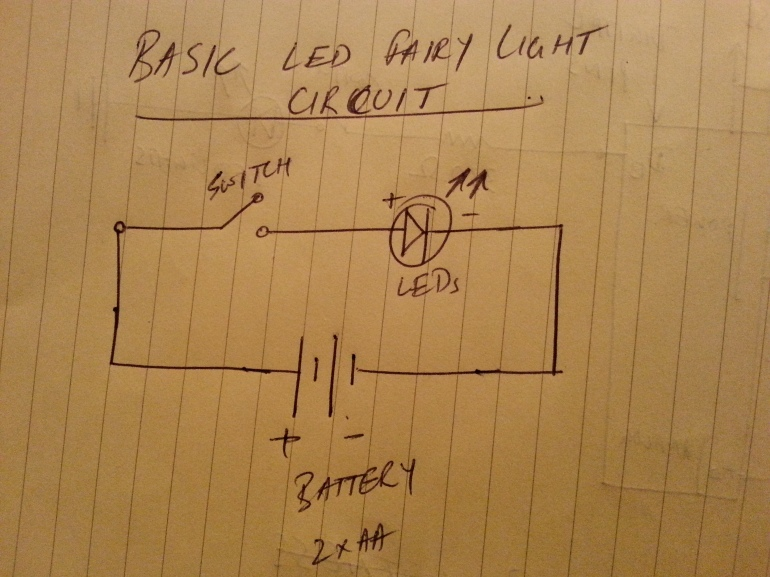 Basic fairy light circuit