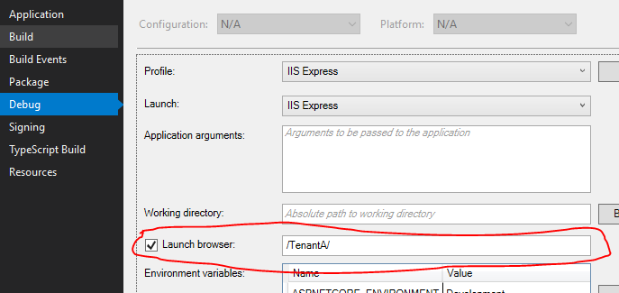 Dynamically Mapping Tenant Requests to Tenant Databases in