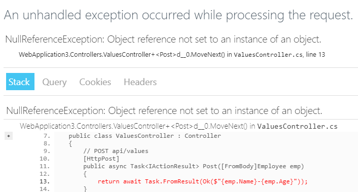 Reporting Model Validation Errors in ASP NET Core 2 0